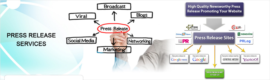 press release writing services in India, press release writing & submission services in India